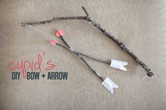 #DIY #Valentine Cupid's Bow and Arrow set! Easy and the kid's love it!