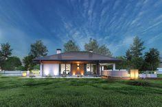 Projekt domu Sfinks VI 94,85 m2 - koszt budowy - EXTRADOM Village House Design, Village Houses, Style At Home, House Design Pictures, Design Case, Types Of Houses, Home Fashion, Gazebo, Portal