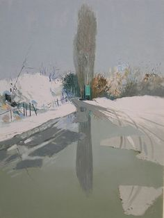 Snow 2009, Oil on Canvas, 80 x 60 Cm - Pashk Pervathi