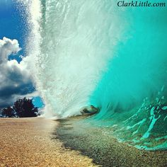 Breaking on the sand. Photo by Clark Little.