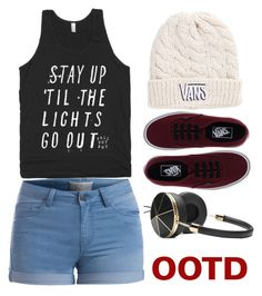 """""""Tomboy ootd"""" by thetruthdoesnothavetohurt ❤ liked on Polyvore featuring Vans, Pieces and Frends"""