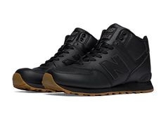 Created in 1988 by combining 2 different NB sneakers (we like to call it the original mashup), the 574 has become a symbol of ingenuity and originality. The men's New Balance 574 Mid-Cut Leather introduces a whole new look to this retro men's sneaker, for Nb Sneakers, Casual Sneakers, Sneakers Fashion, All Black Sneakers, Casual Shoes, Nb Shoes, Black Nike Shoes, Shoe Boots, Mens New Balance 574
