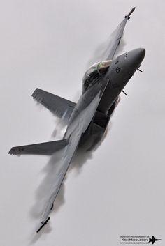 Knife Edge Pass: F-18 by Ken Middleton
