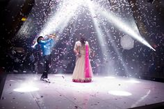 First Dance,confetti shower, saxophone player, spot light.   info@karizmaroadshow.com