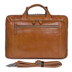 c0776509b1380 Genuine Leather Handbags Men Briefcase Laptop Bag brand leather luxury  handbag 2018 Classic Unisex Business Bag