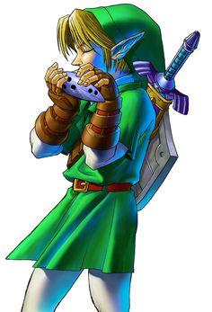 Link & Ocarina   The Legend of Zelda: Ocarina of Time 3D, Adult Link