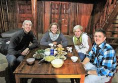 enjoy the meals in local family in Sapa