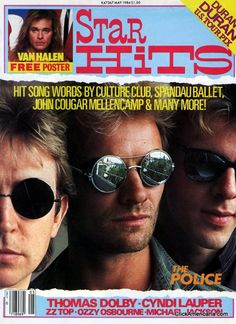 Star Hits magazine: May 1984: The Police.  I don't need the lyrics to any of the hits listed on the cover.  They are stuck in my brain, taking up room that I could be dedicating to learning the minute differences among various brands of digital lenses.