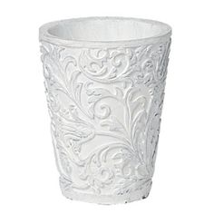 Chateau Ornate Pot Candle 11cm White