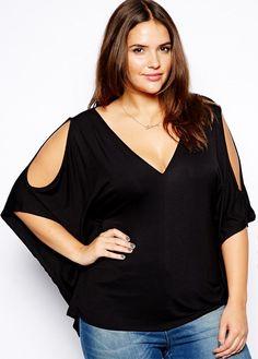 Plus Size Strapless black loose big yards short sleeve T-shirt 3xl-6xl free shipping | Allbuy.com