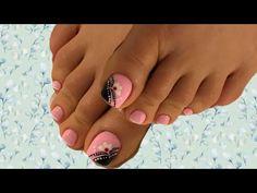 Diseño en uñas de pies uñas decoradas diseño fácil - YouTube Make It Yourself, Ant, Nails, Google, Youtube, Toe Nail Art, Pedicures, Short Nails, Nail Manicure