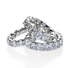 Stunning diamond encrusted wedding bands. Wedding Ring   Diamond Ring   Eiseman Bridal   Eiseman Jewels