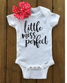 Little Miss Perfect Onesie/Baby Girl Onesie/Cute Onesie/Trendy