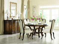 American Drew Jessica McClintock Couture Round Formal Dining Table in Mink - traditional - dining tables - cymax Round Dining Room Sets, Formal Dining Tables, Dining Room Furniture Sets, Dining Decor, Dining Table In Kitchen, Dining Room Design, Furniture Ideas, Wolf Furniture, Round Kitchen