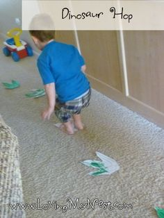 Dinosaur Hop, a game for sight words, letter recognition, number recognition... @ Loving My Nest
