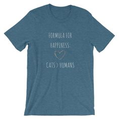 Formula For Happiness Love Cats More Than Humans - Euooe Shop