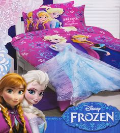 Elsa and Anna will transform your child's bedroom with this beautiful Hope for the Kingdom Frozen quilt cover set. The Frozen quilt cover set bedding package set contains one quilt cover (duvet cover) and pillow case(s). Both the quilt cover an Frozen Bedding, Frozen Quilt, Quilt Cover Sets, Bedroom Accessories, Disney Frozen, Girls Bedroom, Your Child, Winter Wonderland, Duvet Covers