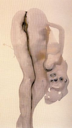'Dorothy D.' - 1998 - by Marlene Dumas (South African, b. 1953) - Ink on paper - 123x69cm.