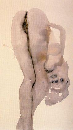Marlene Dumas: Dorothy D. - 1998 - by Marlene Dumas (South African, b. 1953) - Ink on paper - 123x69cm.