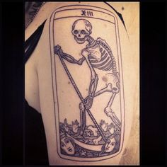 The Death card isn't as bad as it looks — could signify big changes in your life! | 19 Powerful Tarot Tattoos