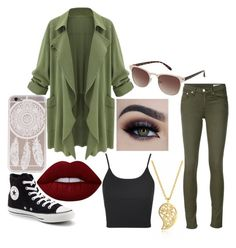 """""""out in the forest"""" by emilyranger-217 ❤ liked on Polyvore featuring Sonal Bhaskaran, Converse, rag & bone/JEAN, Topshop and Lime Crime"""