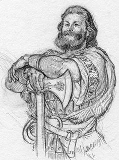 Sketchbook Drawing Anthony VanArsdale - Art and Illustration: Sketchbook drawing - Warrior Drawing Sketches, Art Drawings, Sketching, Character Art, Character Design, Warrior Drawing, Forgotten Realms, Viking Art, Crayon