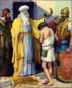 Prophet Samuel anointing David