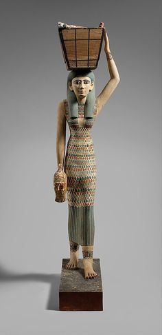 Statue of an Offering Bearer, Middle Kingdom, Dyn 12, early reign of Amenemhat I, ca 1981-1975 BC