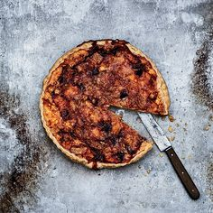 Époisses, Ham and Apple Tart | Star chef Ludo Lefebvre uses the pungent, soft cow-milk cheese Époisses to flavor this delicious tart. He adds ham and apples as well, to balance the rich filling.