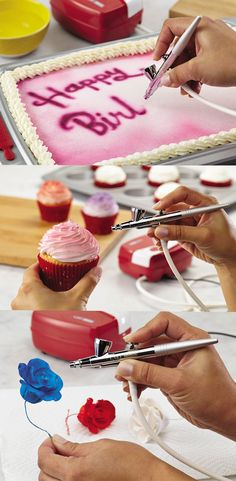 Beautifully decorate cakes, cupcakes, and fondant in an instant with the NEW Cake Boss Airbrushing Kit: Click on the image to learn more.