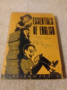 Essentials of English by Joseph Bellafoire ( 1943 paperback)