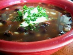 Black Bean & Tortilla Soup