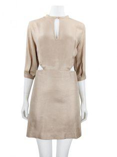 Vestido De Goeye Seda Rosê Original - AWU868 | Etiqueta Única Louis Vuitton, Ideias Fashion, High Neck Dress, Fitness, Sweaters, Dresses, Style, Dress With Sweater, Neckline