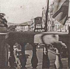 Av. Rio Branco vista da antiga Prefeitura, sem data (arquivo de Marcelo José Lemos).