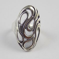1 Pcs Fancy Style Shape Design Ring 925 Sterling Silver High Polished Nice Ring #RAAGARW