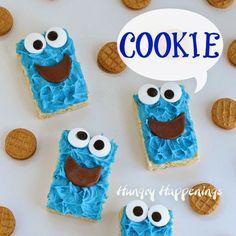Cookie Monster Rice Krispies Treats