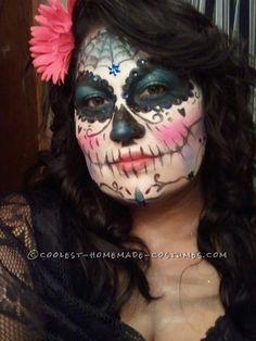Very Cool Last-Minute Dia de los Muertos Makeup