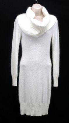 SEXY MODA INTERNATIONAL WOMENS WHITE DRESS SIZE XS VERY SOFT!!! #ModaInternational #SweaterDress #Cocktail