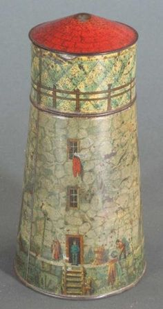 DUNMORE & SON BISCUIT TIN LIGHTHOUSE