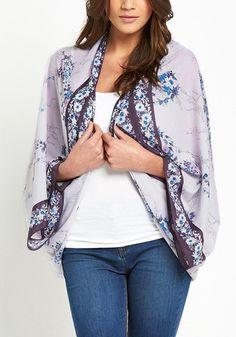 Purple Floral Kimono