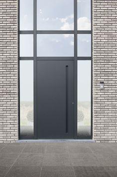 This amazing barn garage door is honestly a striking design technique. Modern Entrance Door, Front Door Entrance, House Front Door, House Doors, House Entrance, Entry Doors, Windows And Doors, The Doors, Beautiful Front Doors