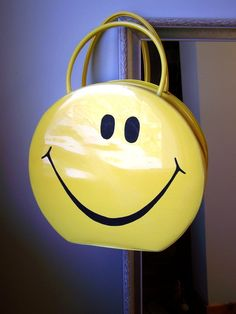 Suitcase Bag Round Yellow Smiley by yazberryfashion Love Smiley, Yellow Smiley Face, Smileys, Happy Smile, Make Me Smile, Happy Faces, Smiley T Shirt, Suitcase Bag, All Smiles