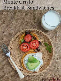 Monte Cristo Breakfast Sandwiches #4MoreWaffles #shop #cbias