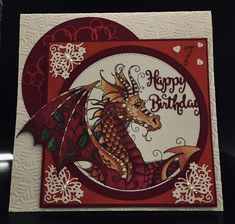 7th Birthday, Birthday Cards, Dragon Girl, Lavinia Stamps, Ink Stamps, Handmade Cards, Dragons, Punch, Stamping