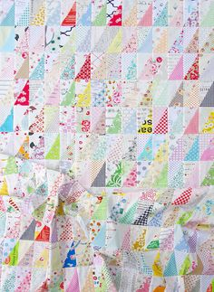 Half Rectangle Triangles ~ A Quilt in Progress - Red Pepper Quilts