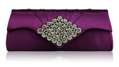 home clutch bags purple sparkly crystal satin clutch purse Purple Handbags, Purple Purse, Purple Bags, Vintage Purses, Vintage Bags, Luxe Wedding, Wedding Bags, Purple Wedding, Bridal Handbags