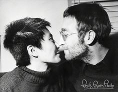 John Lennon & Yoko Ono from AP Collection www.RockPaperPhoto.com
