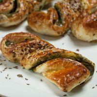 Garlic , Cream Cheese filled Crescent Twists