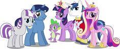Twilight Sparkles Family by *HampshireukBrony on deviantART