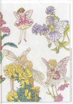 Cross stitch - fairies: Flower fairy sampler - Cicely Mary Barker - part 2/2 (free pattern with chart)